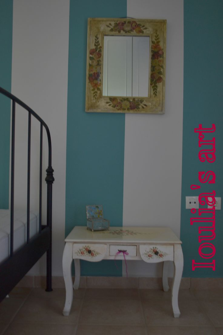 Bedroom painting and decoration.Just simple as your life is. http://iouliasart.blogspot.gr/