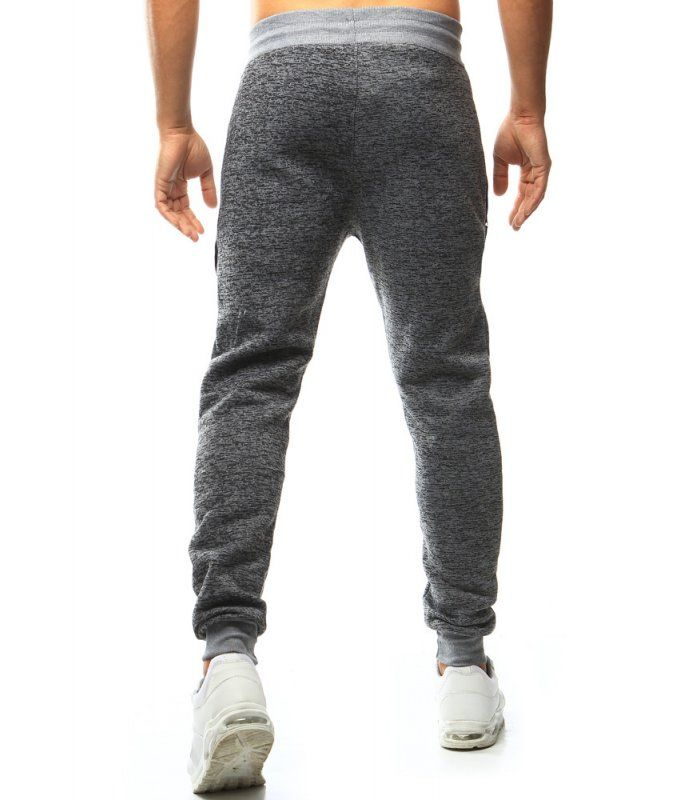 Pánske šedé teplákové nohavice