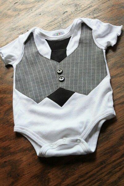 baby boy vest and tie appliqué
