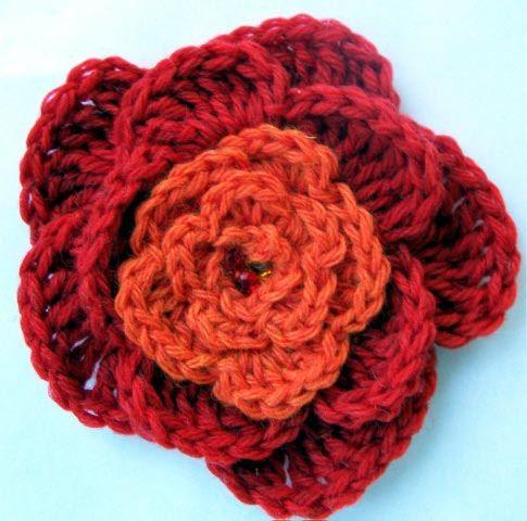 229 best Crochet Flowers images on Pinterest | Crocheted flowers ...