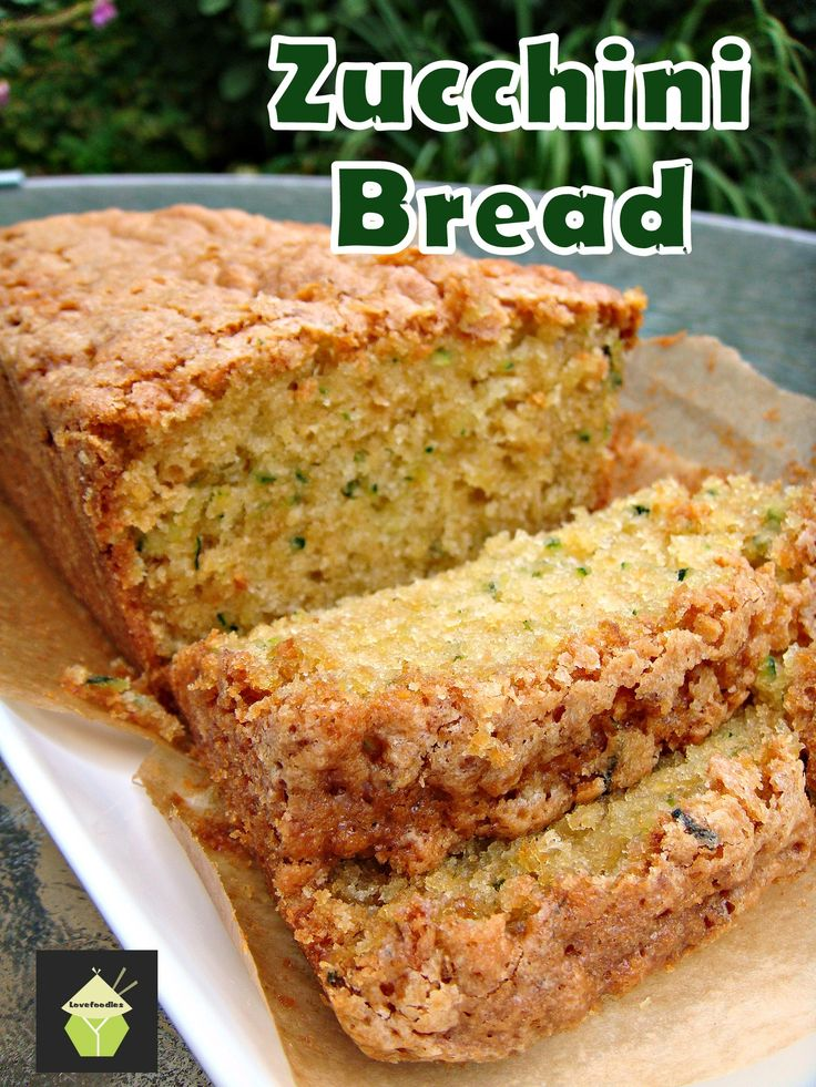 Super Moist Zucchini Bread. A wonderful soft, moist and sweetish loaf cake perfect with a cup of tea!