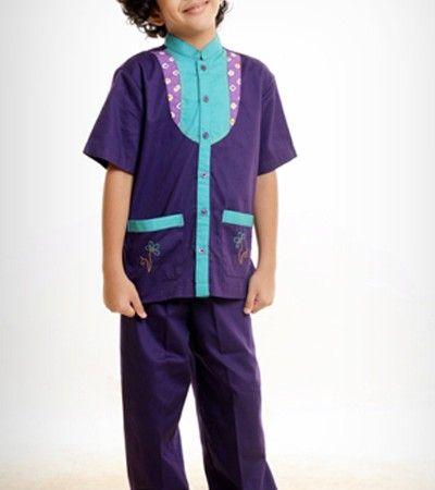 Baju Muslim Azka Koko Anak Let's Play 2 KASK 16 – Ungu Petunia [M]