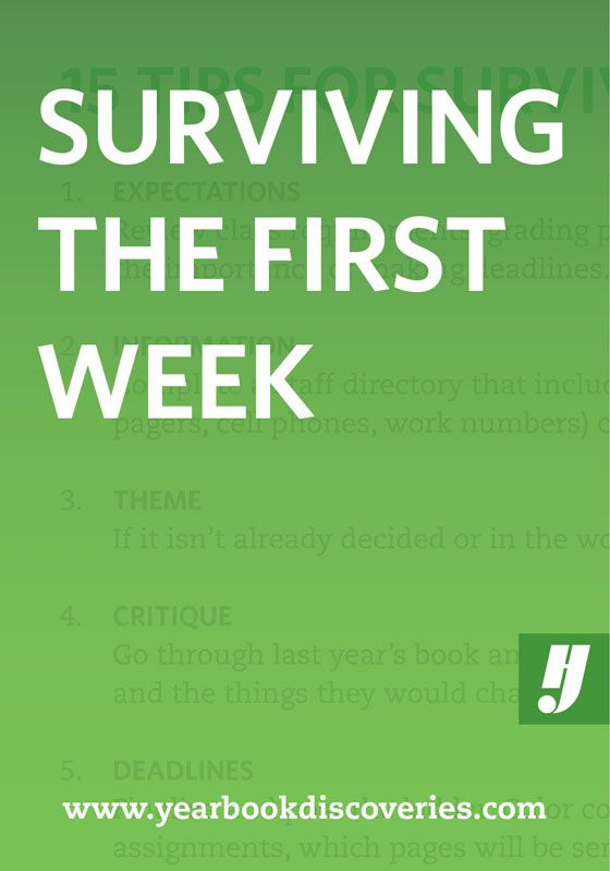 15 Tips for Surviving the First Week of Yearbook