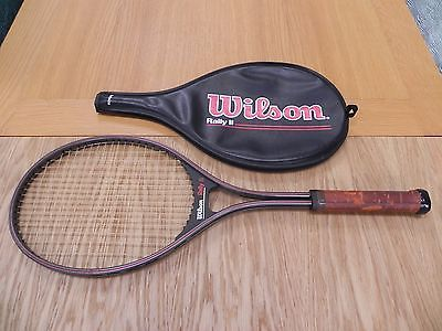 """#Vintage aluminium #tennis racquet wilson #rally ii with head cover 27"""" l2,  View more on the LINK: http://www.zeppy.io/product/gb/2/391678750609/"""