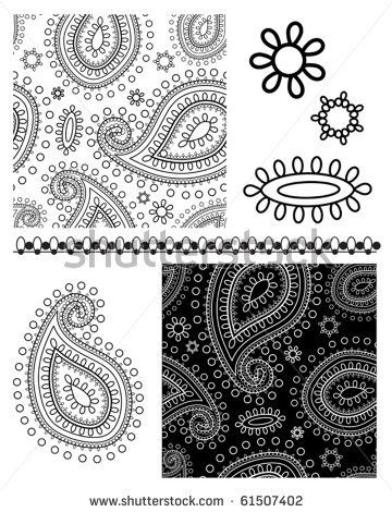 Paisley Stencil Printable