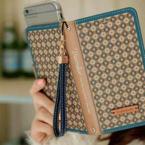 Diners Dior Handmade Wallet Case - Brown