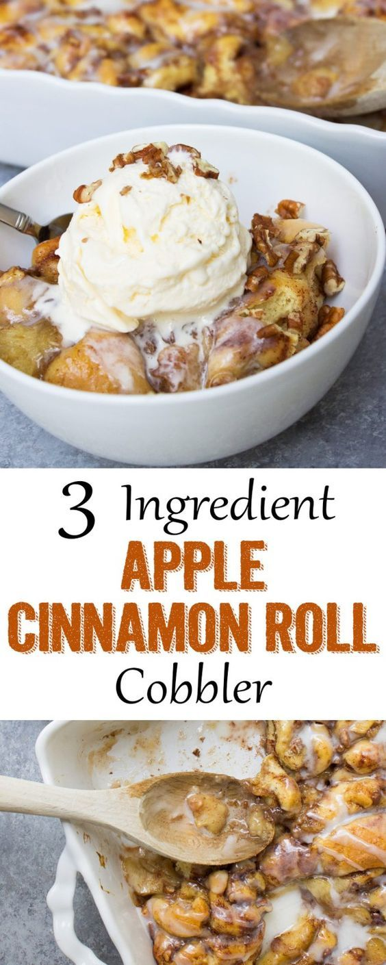 This is the easiest apple cobbler you will ever make!! Only 3 ingredients!!