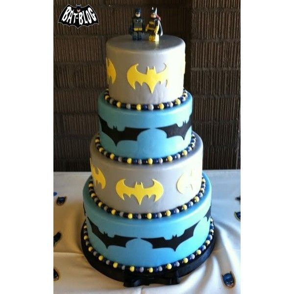 CRAZY COOL BATMAN CAKES Wedding AND Birthday ❤ liked on Polyvore
