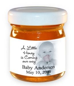 A Little Honey Is Coming Our Way Custom Honey Jar from Baby Gifts and Gift Baskets (I usually don't plug products but this is so cute:)