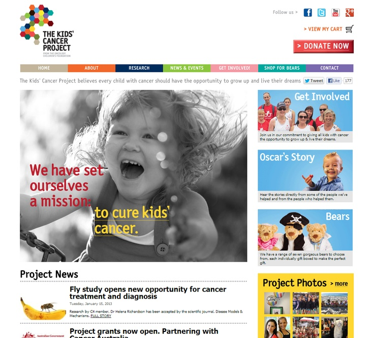 Best Nonprofit Organization Site  The Kids Cancer Project	 - http://www.thekidscancerproject.org.au  Implemented by Create Studios  This Australian charity is focused on funding research programs dedicated to finding cures for childhood cancer. The website utilizes Kentico's e-commerce functionality as a base and it was customized to meet the client's requirements. http://www.kentico.com/Customers/Site-of-the-Year/Site-of-the-Year-2012