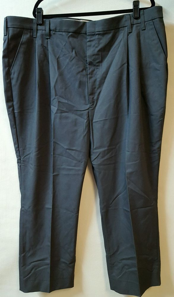 RED KAP WORK PANTS NAVY FLAT FRONT POLYESTER//COTTON 38 X 32 NWT
