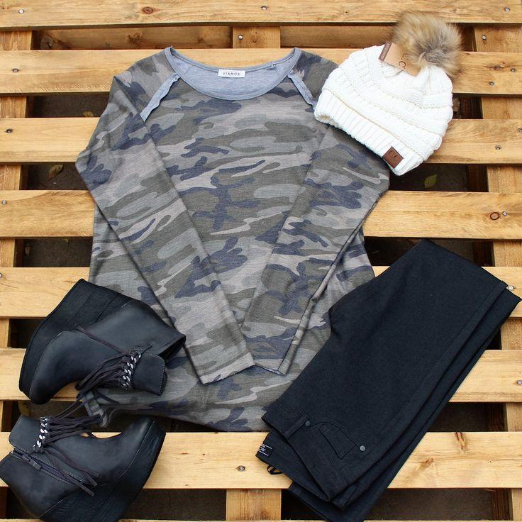 Camo Sweatshirt Tunic – Southern Mess Boutique