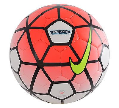 NIKE PITCH BARCLAY'S PREMIER LEAGUE SOCCER BALL SIZE 5 2015/16 Red/White