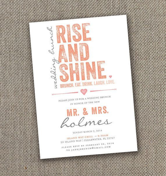 Fabulous Breakfast and Brunch Wedding Ideas for the Early Birds - wedding invitation idea via easy