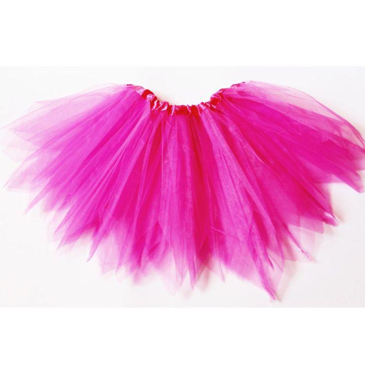 2-8 éveseknek való rózsaszín cakkos aljú tütü / tüll szoknya