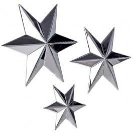 Mirrored stars for a beautiful wall design