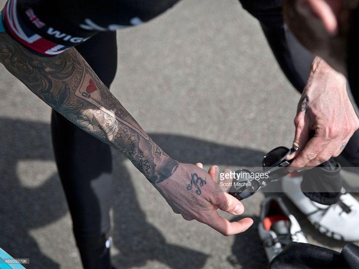 Sir bradley wiggins of team sky and team mates recon the for Bradley wiggins tattoo sleeve