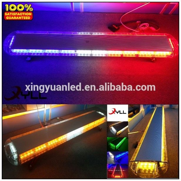 led strobe light bar with siren horn speaker used police cars emergency flashing warning police light bar
