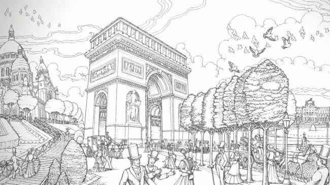 Coloring Pages For Adults Travel : Pin by 현숙김 on 컬러링북 도안 pinterest coloring paris and