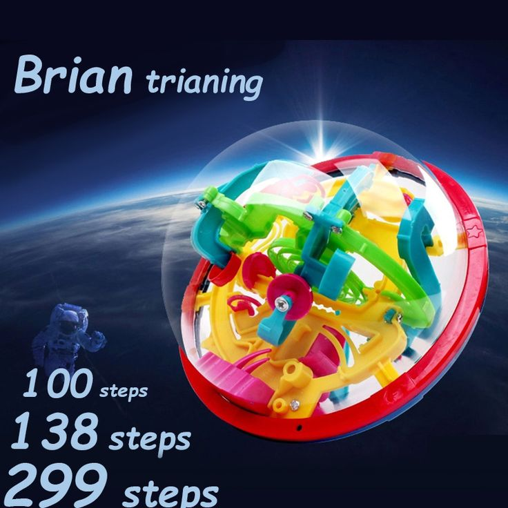 100 138 299 Steps Small Big Size 3D Labyrinth Magic Rolling Globe Ball Marble Puzzle Cubes Brain Teaser Game Sphere Maze