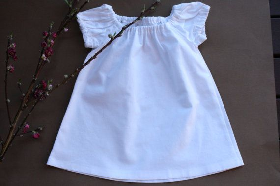 SALE  Size 6-12mths  Toddler Dress  White by RainbowSparklesBlue