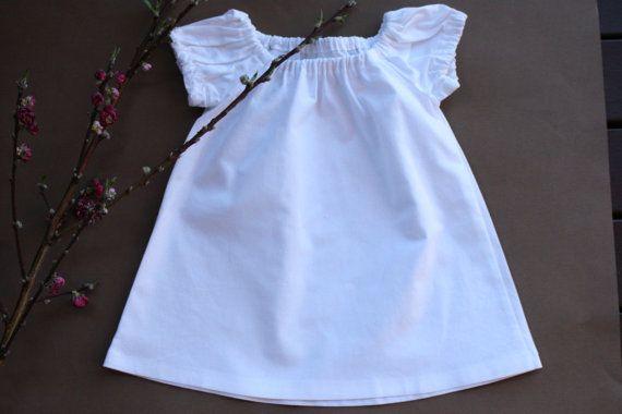 SALE  Size 6-12mths  Toddler Dress  White by RainbowSparklesBlue