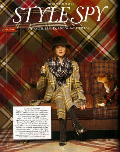 The quintessential British Rural Chic - plaid, tweed, and earthy hues.  Town and Country.