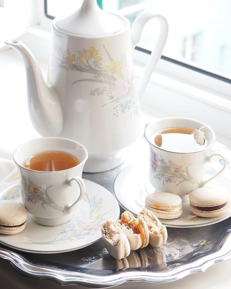 Macarons, tea time , white photos, lifestyle , breakfast