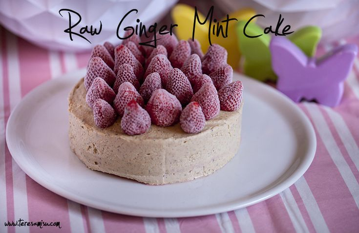 Raw Ginger Mint Cake