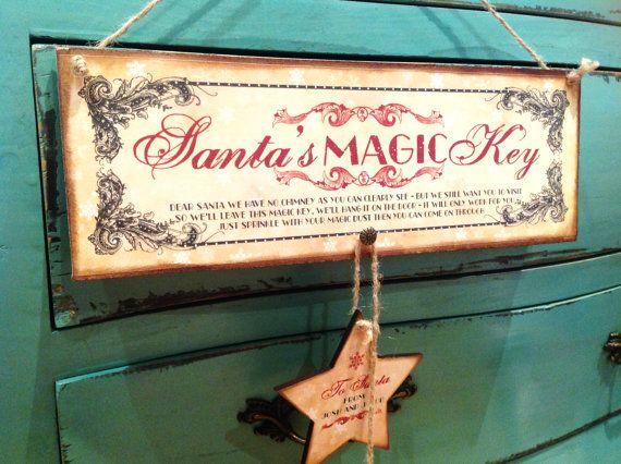 Santa's Magic Key, Christmas Ornament, Santa's Magical Key, Personalised. Christmas Decoration, Rustic Christmas Decor on Etsy, $25.00