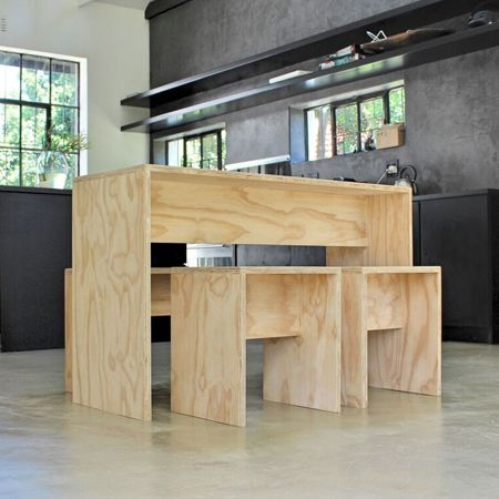 Love This Simple Yet Super Effective, Plywood Furniture By Matchbox! Part 59