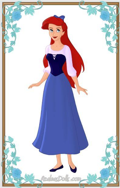 Ariel In A Dress Blue By Kawaiibrit Ƹ Ӝ Ʒariel DressƸ Ʒ Pinterest Princesas Disney And