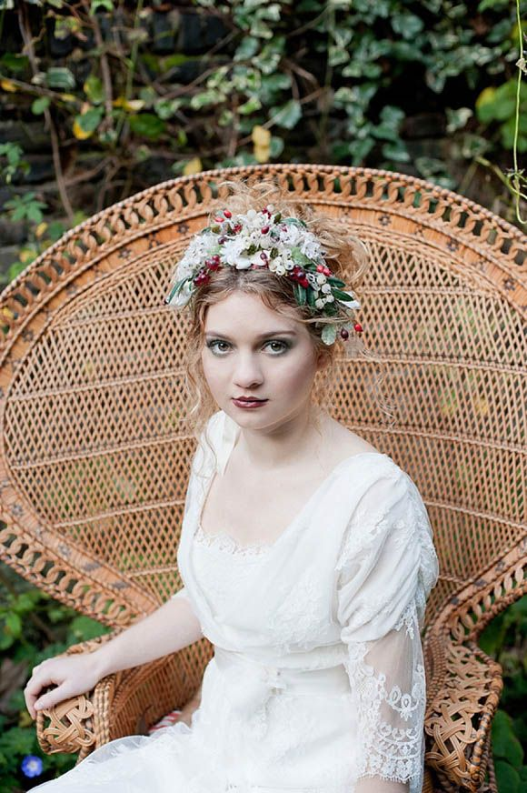 Edwardian inspired wedding dresses by Sally Lacock - the lipstick - the berry arrangement - where to start!