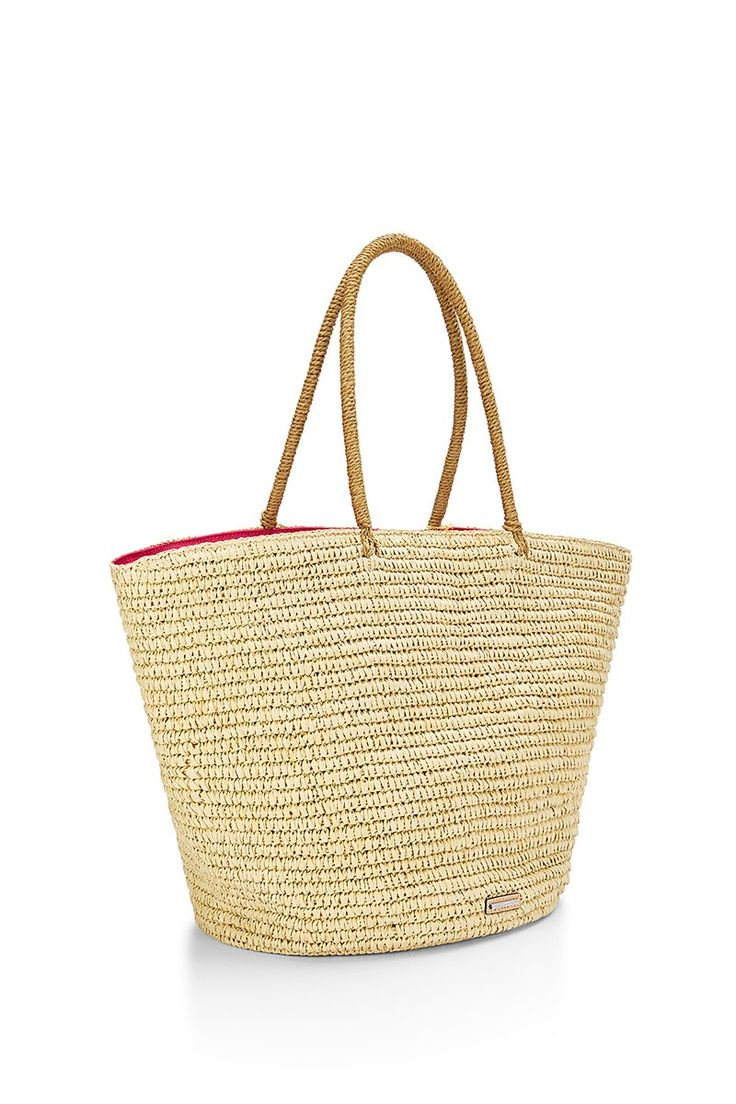 REBECCA MINKOFF Straw Tote-Beach Hair Don't Care. #rebeccaminkoff #bags #fur #travel bags #beach #