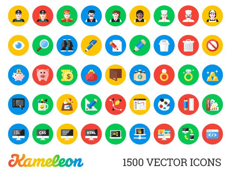 Kameleon: 1500 Flat Icons [Developer Pack]