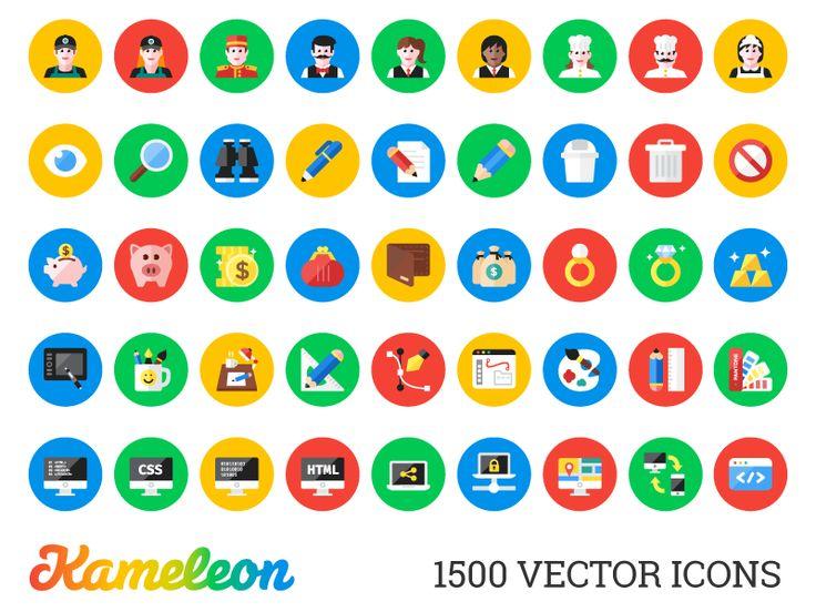 Kameleon: 1500 Flat Icons [Developer Pack]