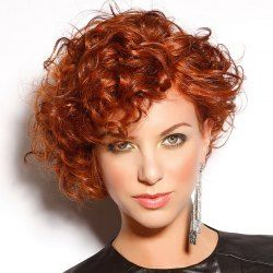 SHARE & Get it FREE | Outstanding Short Side Bang Capless Fluffy Curly Dark Auburn Synthetic Wig For WomenFor Fashion Lovers only:80,000+ Items • FREE SHIPPING Join Twinkledeals: Get YOUR $50 NOW!