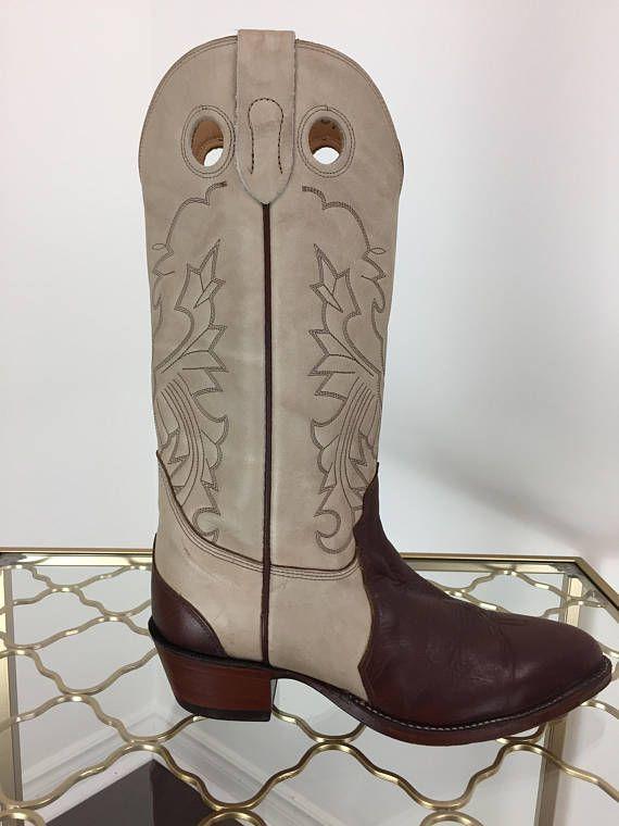 8d4a9d1a7ca 1980s Cowboy Boots - Biltrite Cowboy Boots - Two Tone Contrast ...