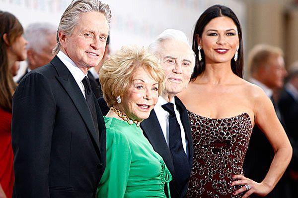 The Douglas family, includes Michael's wife Catherine Zeta Jones