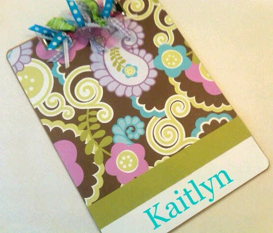 personalized clipboard! Great Idea for your teacher!!