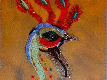 Gallo/ Bestiario/ mosaico artistico