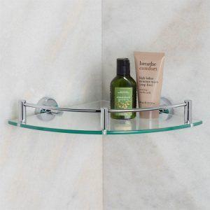 Small Glass Corner Shelves For Bathroom