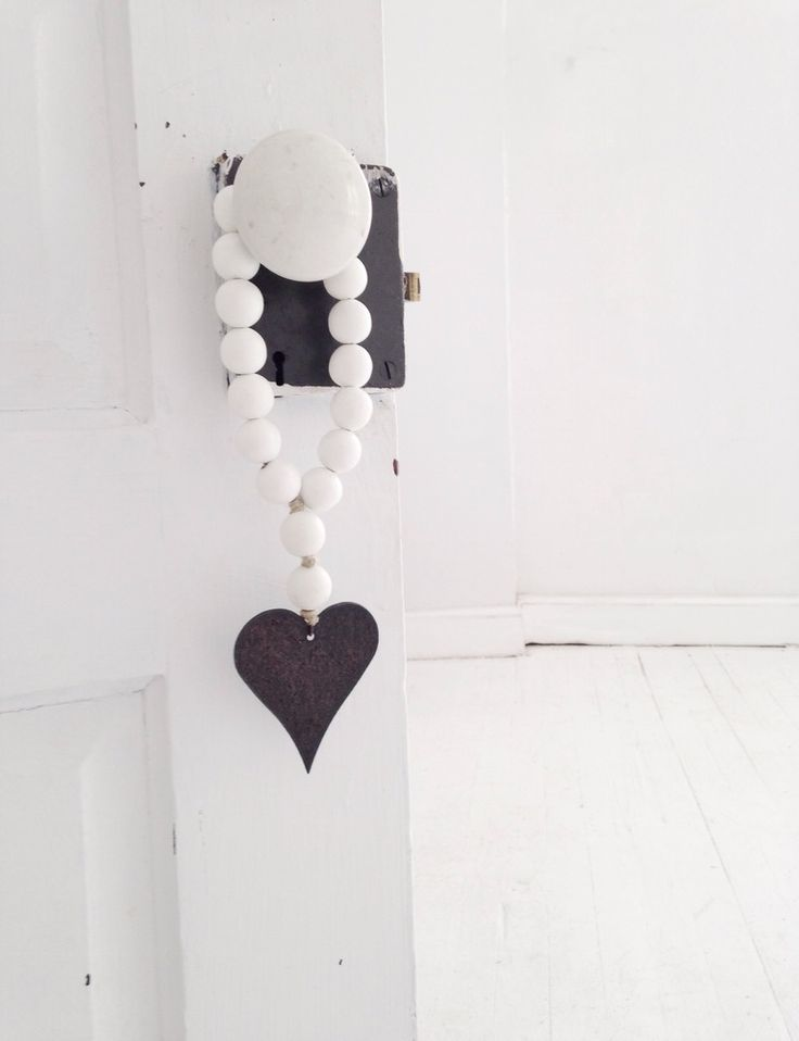 Image of Love Beads for the home - Mini Style in White with Heart
