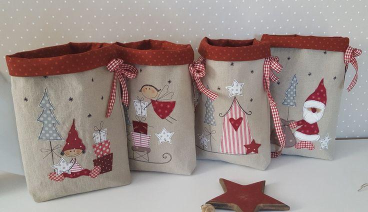 +Adventskalender,+Weihnachten,+4+Beutel+von+Feinerlei+auf+DaWanda.com