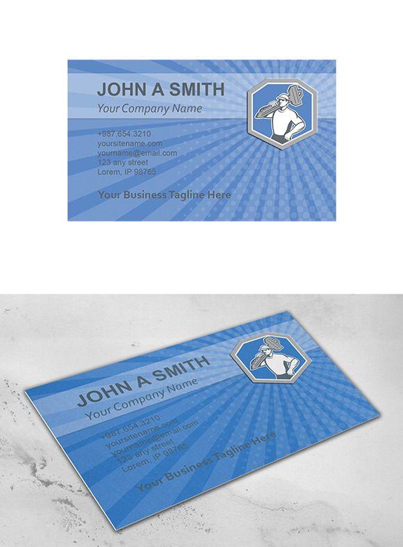 Business Card Template Locksmith Car ~ Business Card Templates on Creative Market