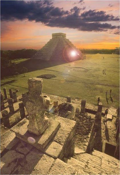 Chichen Itza sunset . Mexico