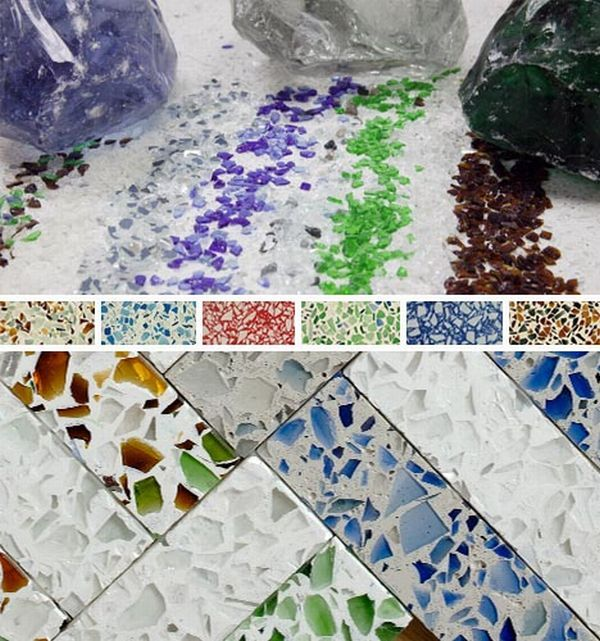 Absolutely In Love With This Recycled Glass Countertop Idea   Could Be Used  For Tabletops