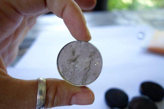 SMokey Quartz crystal Flat Circle stones  LOT OF by CrystalYantra