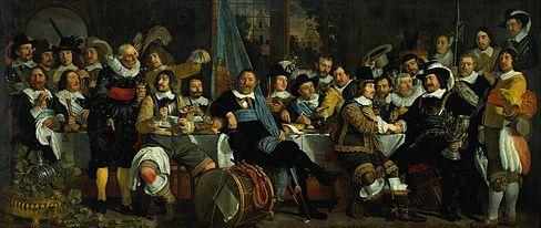 Banquet de la garde civile d'Amsterdam fêtant la paix de Münster (1648)