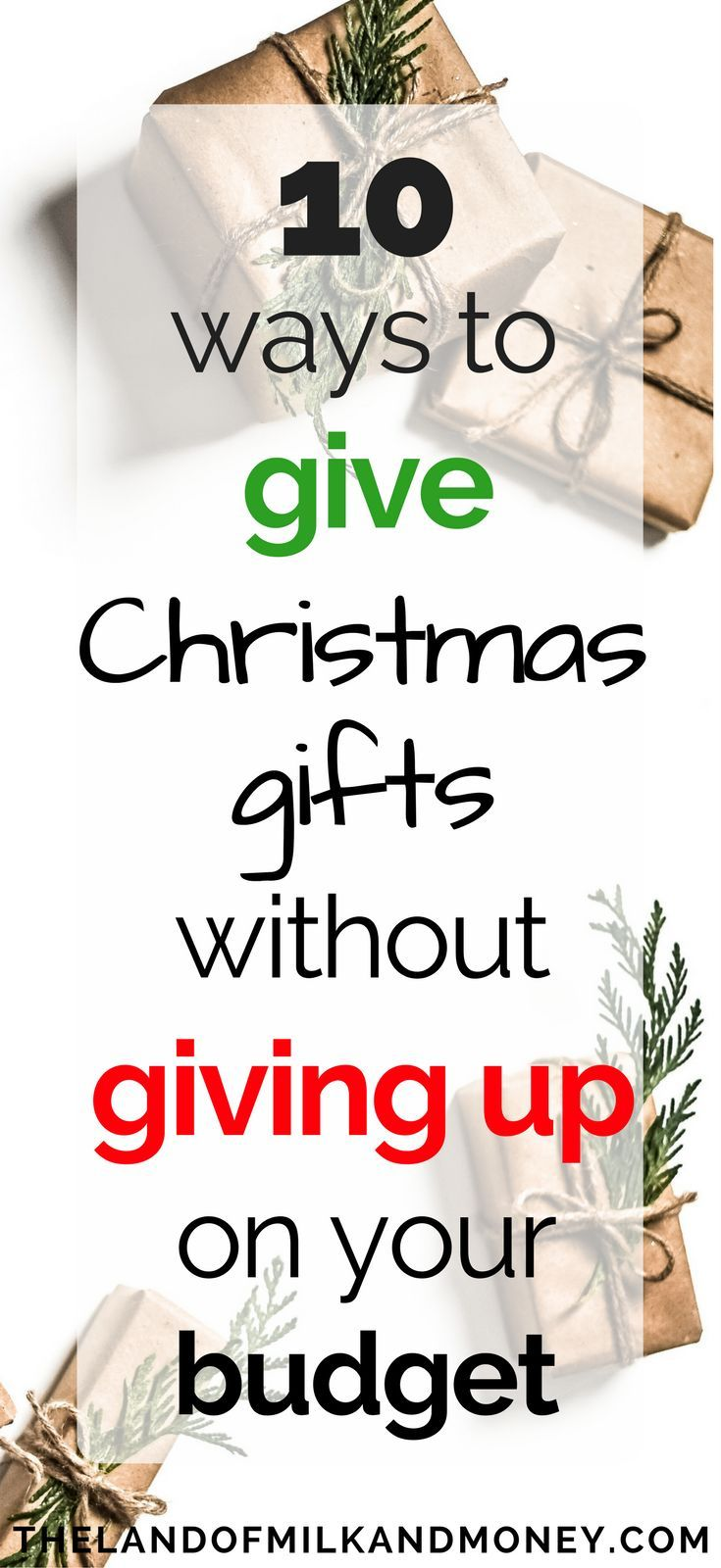 These ideas for cheap Christmas presents are SO good! It's going to be great to be able to give gifts to everyone without blowing our budget.